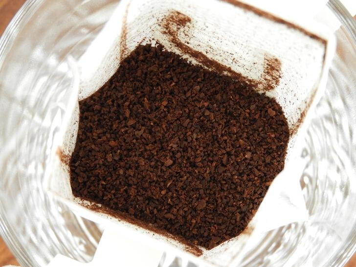 濾掛咖啡研磨咖啡粉特寫