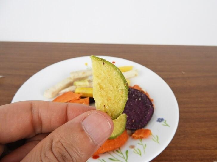 綠蘿蔔脆片特寫