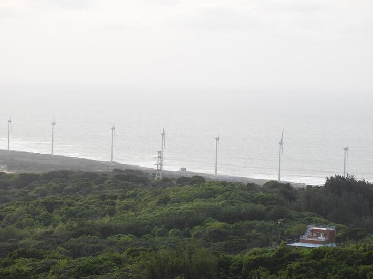 看得到臺灣西海岸的風景