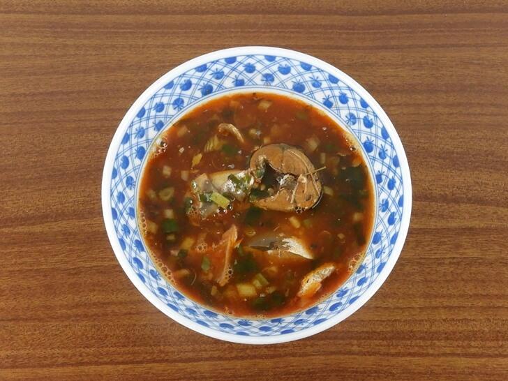 煮過的台糖蕃茄汁鯖魚罐頭